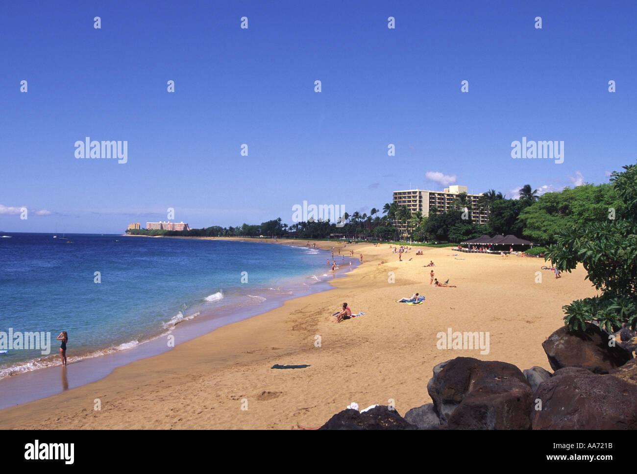 Kaanapali Beach Maui Hawaii Stock Photo 684571 Alamy