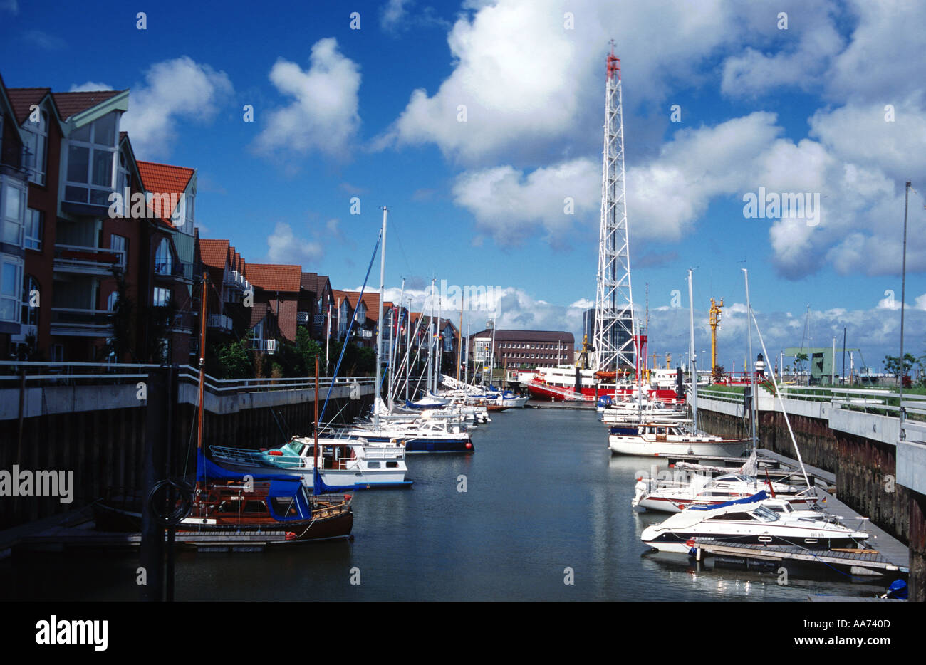 Germany Lower Saxony Cuxhafen at the yachting harbour harbour ships - Stock Image