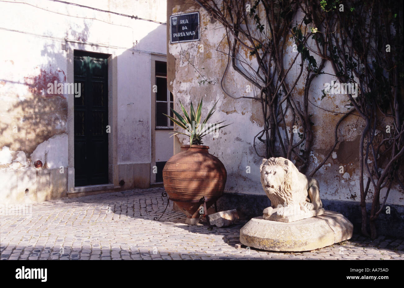 Portugal Algarve Faro idyllic place in the old city - Stock Image