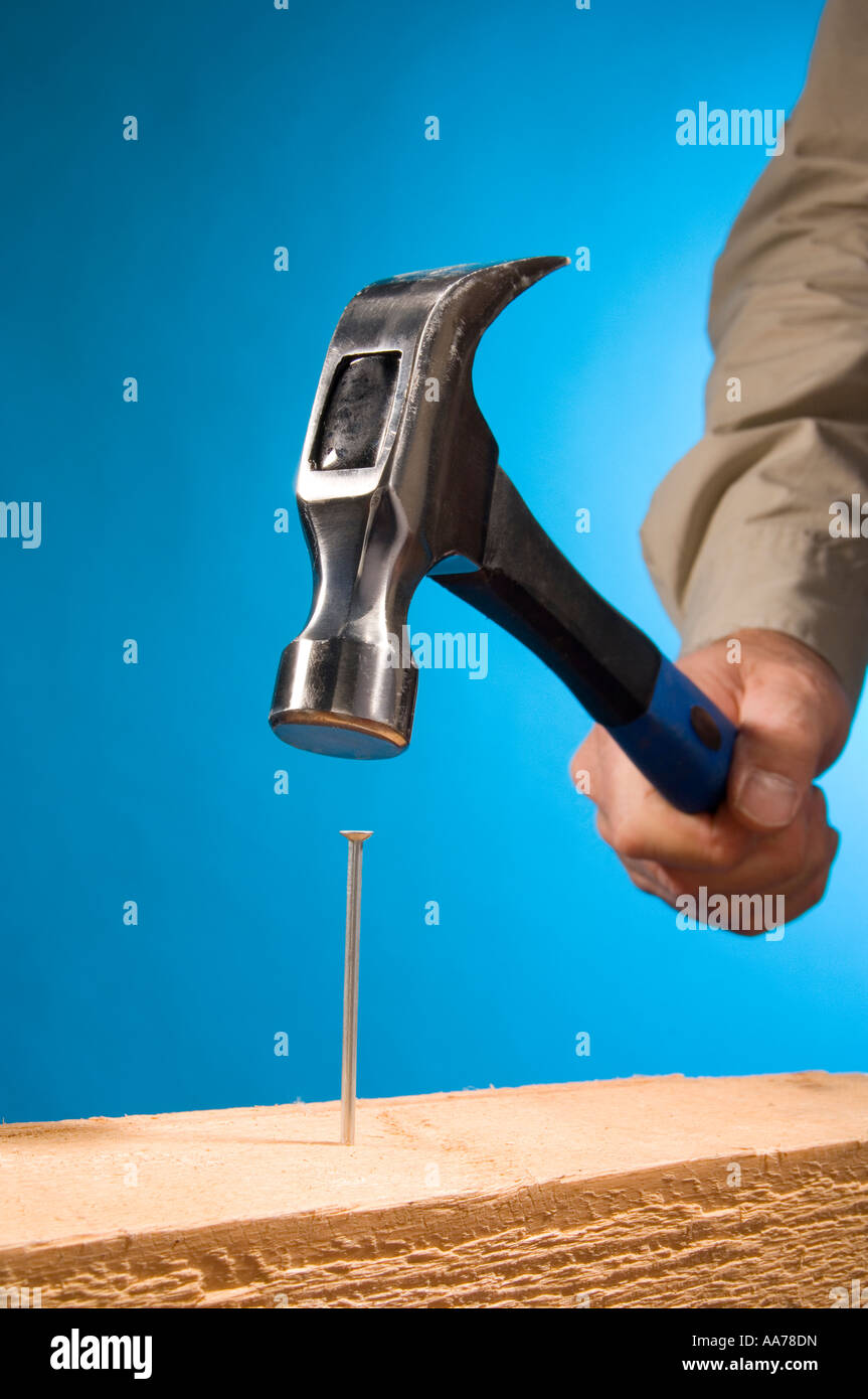 Hitting The Nail On The Head Stock Photos & Hitting The Nail On The ...