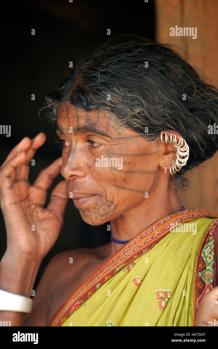 Kutia Kondh woman, near Baliguda, Orissa, India - Stock Image