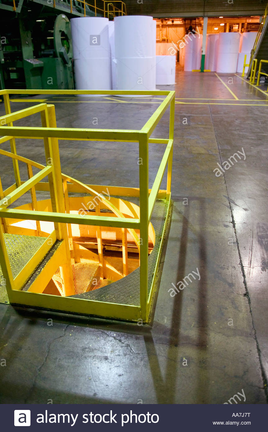 Lovely Spiral Staircase In Factory   Stock Image