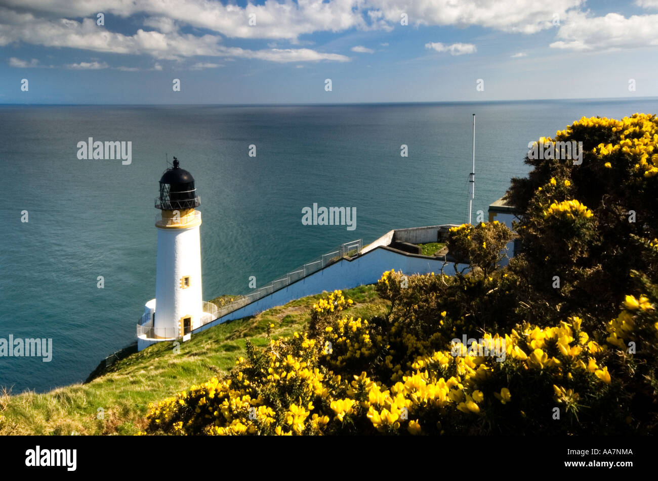 Lighthouse At Maughold Isle Of Man - Stock Image