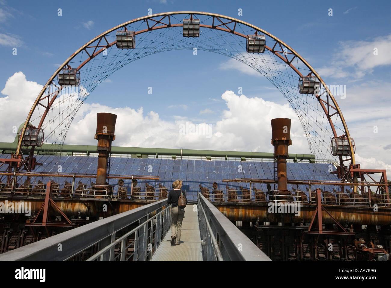 Sun wheel Coking plant Zollverein Essen Kokerei Sonnenrad - Stock Image