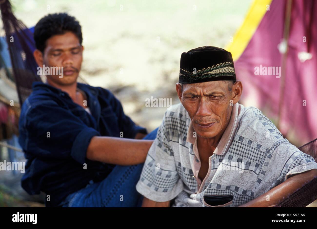 tsunami survivors, Banda Aceh - Stock Image