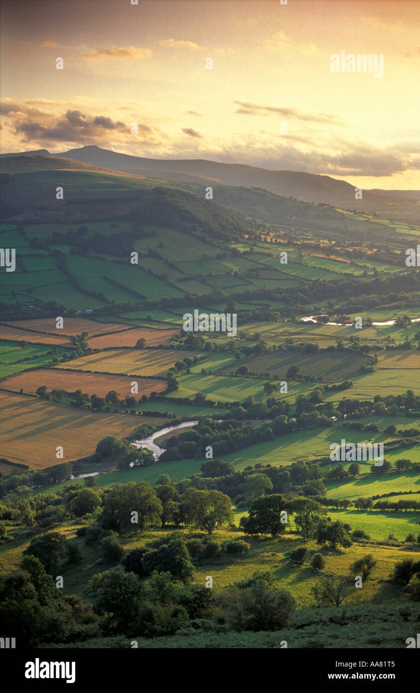 The Usk Valley nr Talybont Brecon Beacons Wales UK - Stock Image