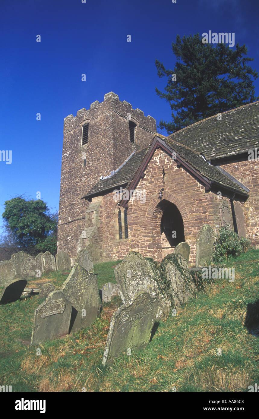 St Martins Church Cwmyoy Black Mountains Gwent Wales UK 33876DA - Stock Image
