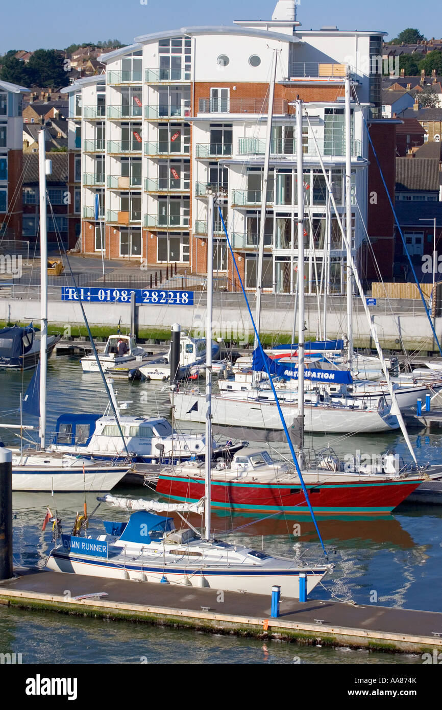 Marinus Exclusive apartments Cowes Isle of Wight England UK Great Britain - Stock Image