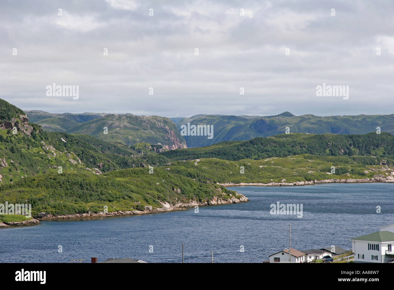 The Short Reach on Newfoundland's Mountainous SW Coast - Stock Image
