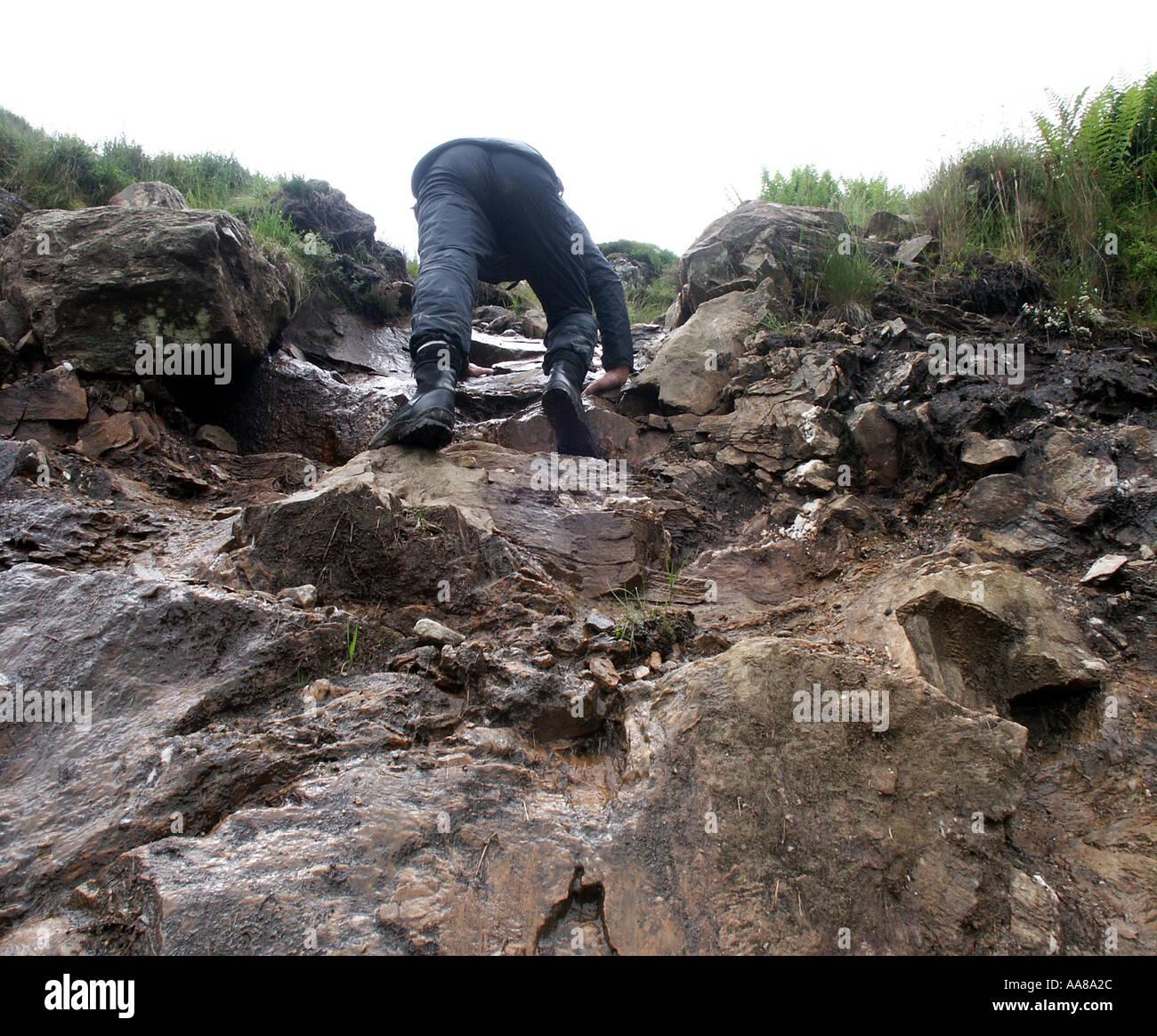 A gentle climb - Stock Image