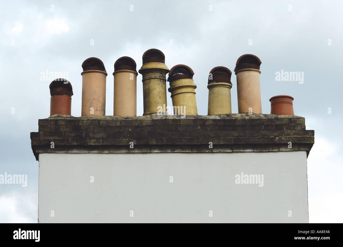 Chimneys - Stock Image