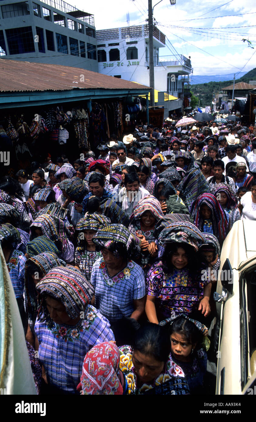 Religious ceremony Santiago Atitlan Lake Atitlan Guatemala - Stock Image