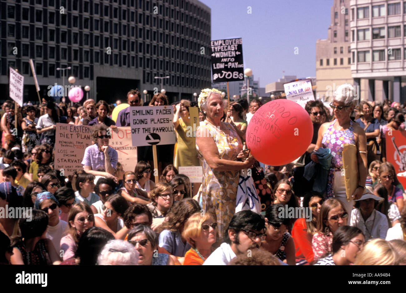 08754780cd Women's liberation march and rally in Boston in the early seventies.