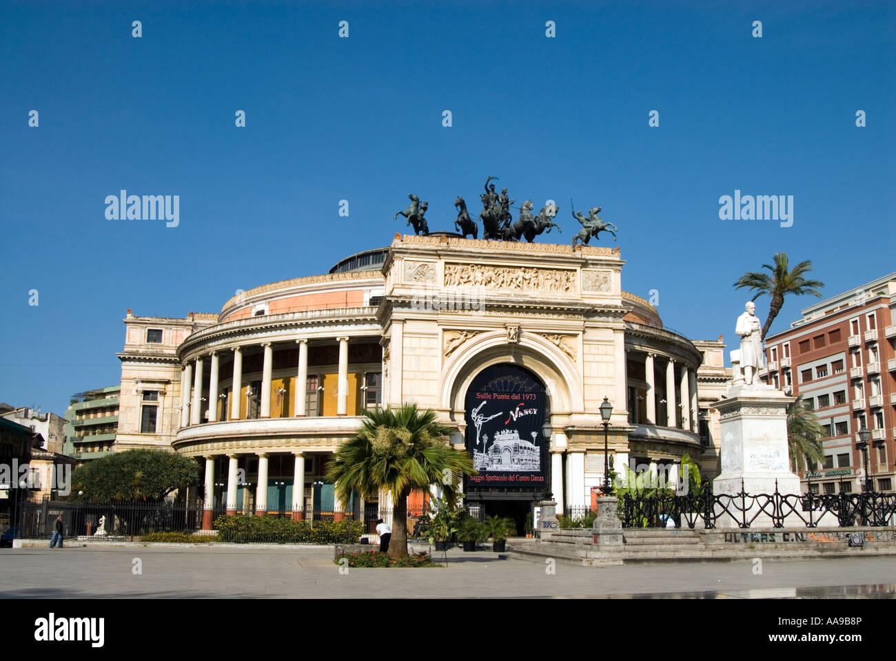 The Teatro Politeama Garibaldi Palermo Sicily Italy Stock Photo