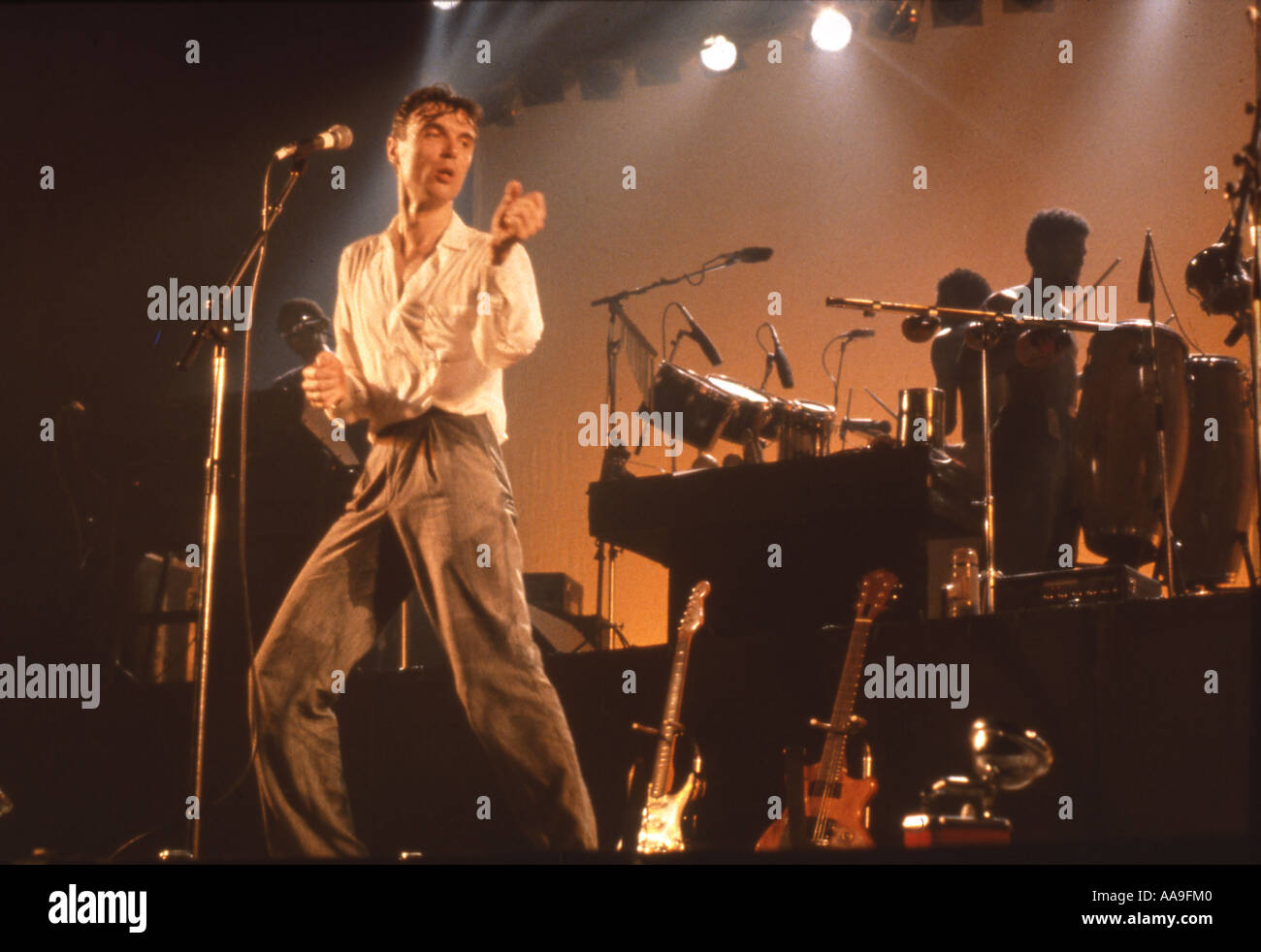 SIMPLE MINDS with David Byrne - Stock Image