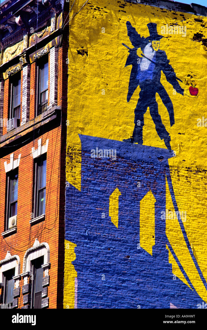 New York City SoHo Graffiti Art Painted Wall Lower Manhattan USA ...