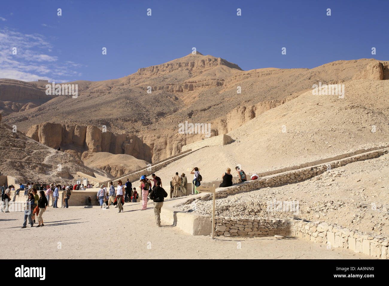 Valley of The Kings, Luxor, Egypt, home of the tomb of Tutankhamun - Stock Image