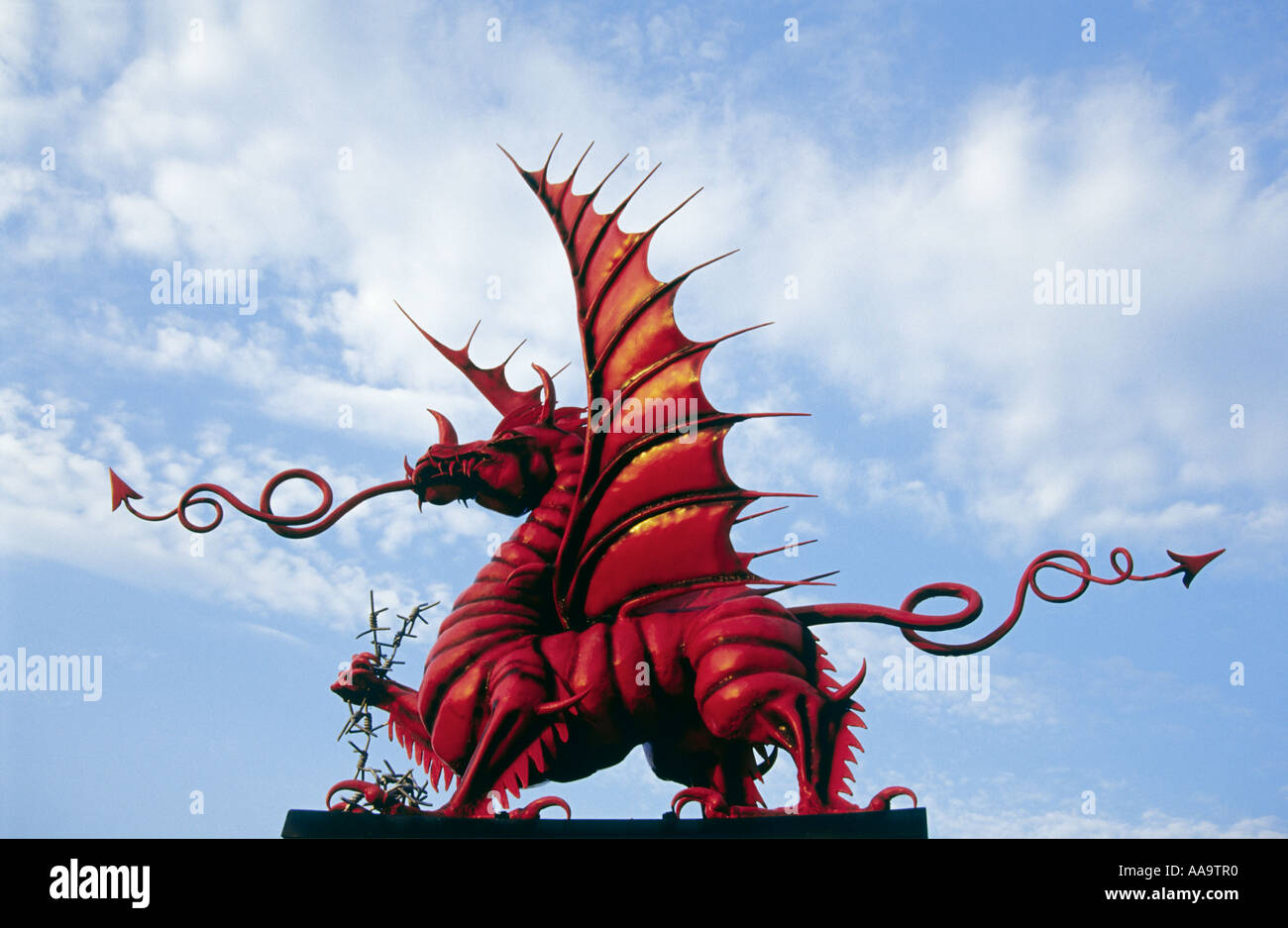 Memorial to the Welshmen of the 38th Division who fell at Mametz wood during the First World War - Stock Image