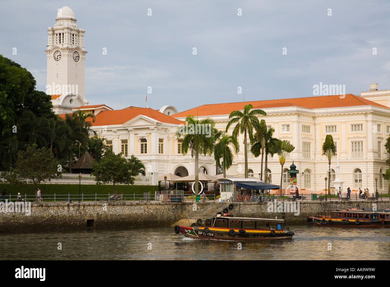 Asian Civilisations Museum in Empress Building at Empress Place on North Boat Quay Civic District, Singapore City - Stock Image