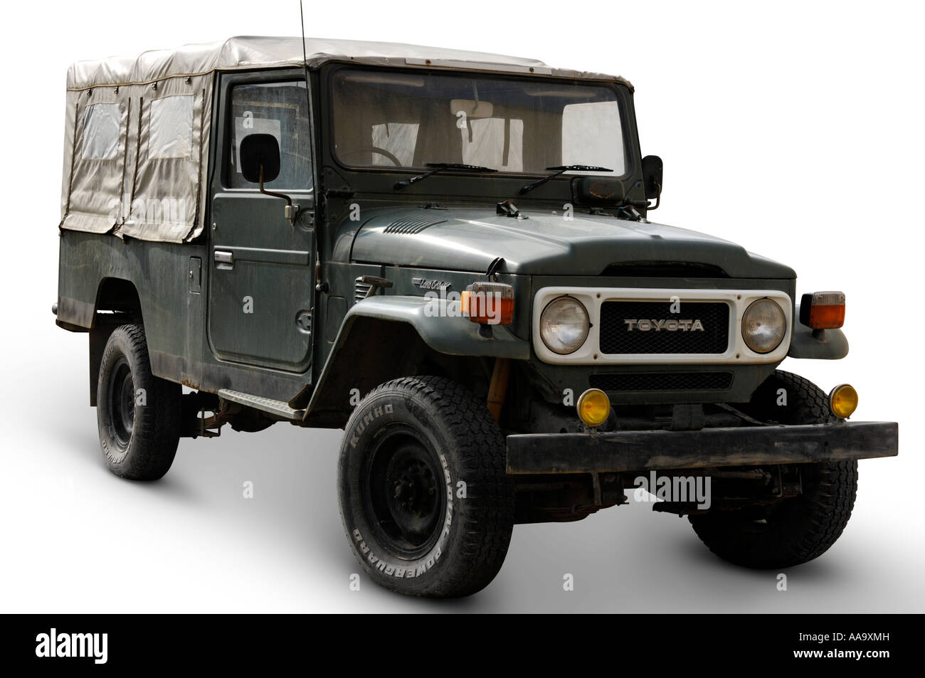toyota land cruiser suv truck isolated over white cutout car jeep stock photo 12562384 alamy. Black Bedroom Furniture Sets. Home Design Ideas