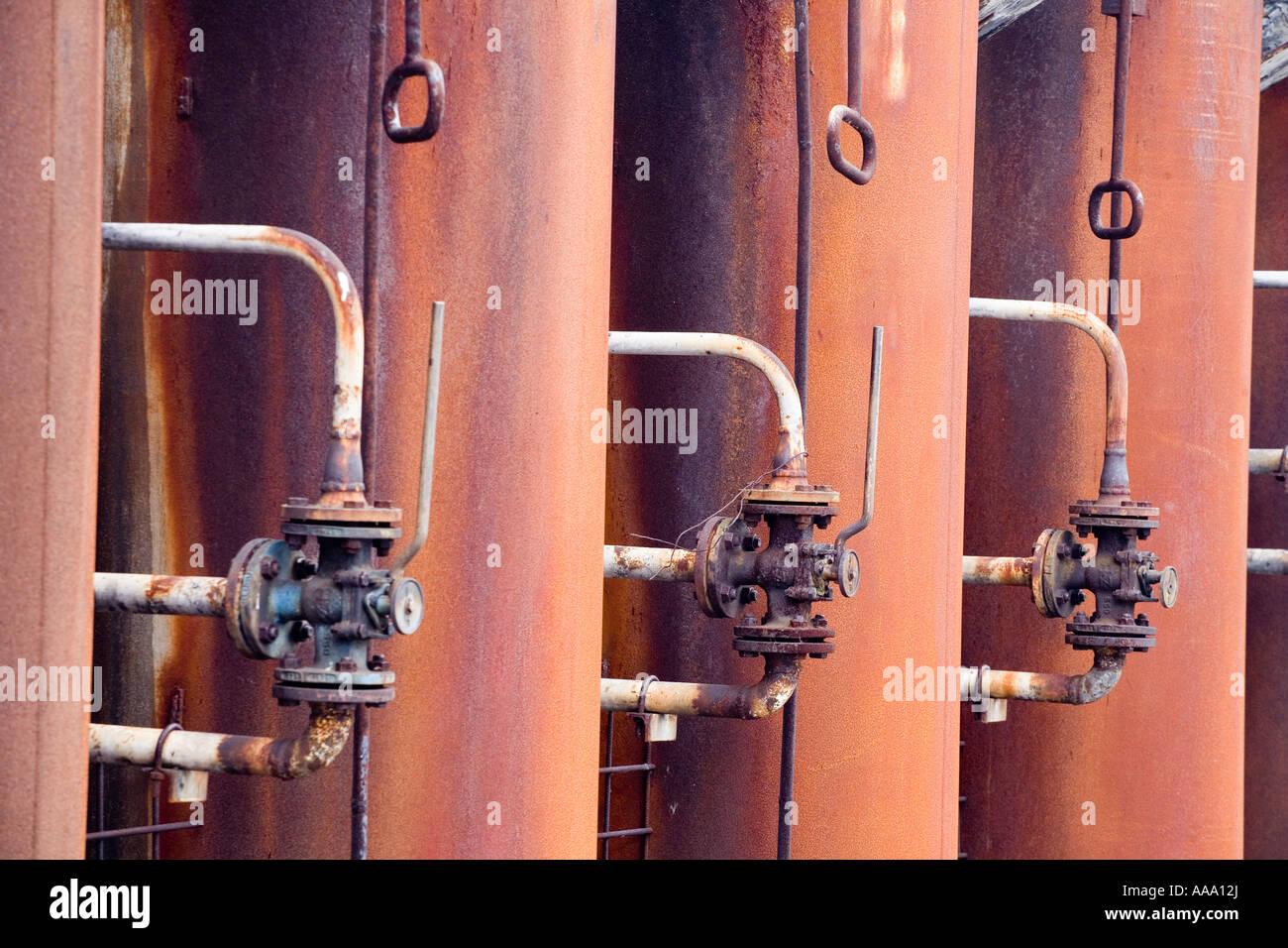 Kokerei Zollverein chimneys of coking plant - Stock Image