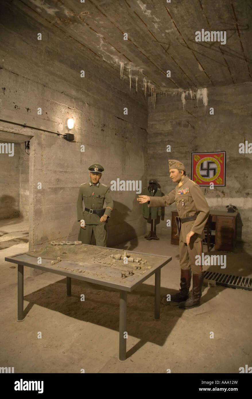 World War Two waxworks inside the Citadella Fortress Gellert Hill Budapest Stock Photo
