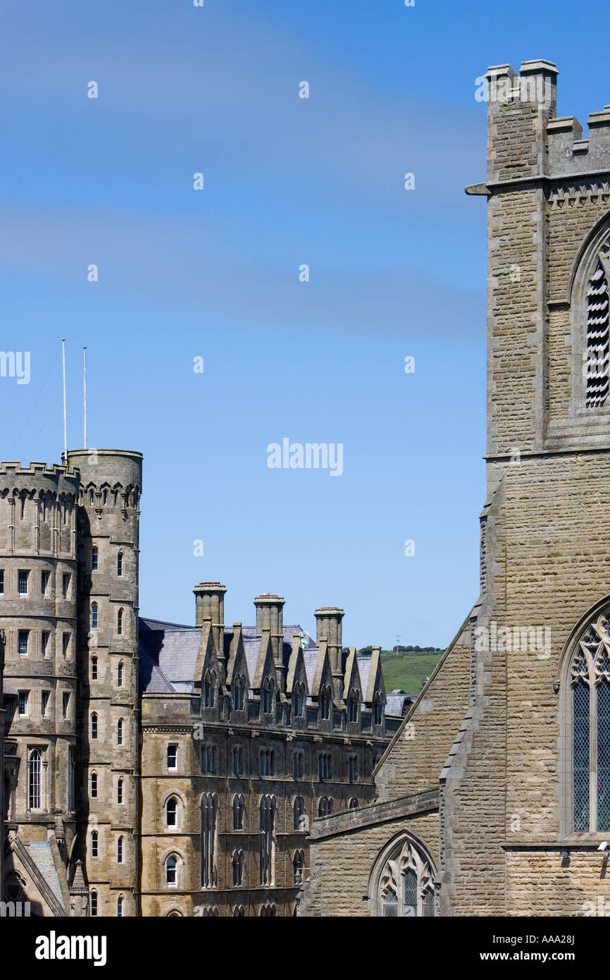 College building University of Wales Aberystwyth County Ceredigion Wales UK May 2007 - Stock Image