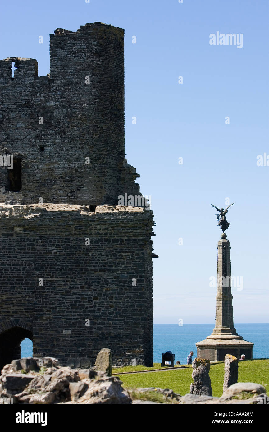 Castle at Aberystwyth County Ceredigion Wales UK May 2007 - Stock Image