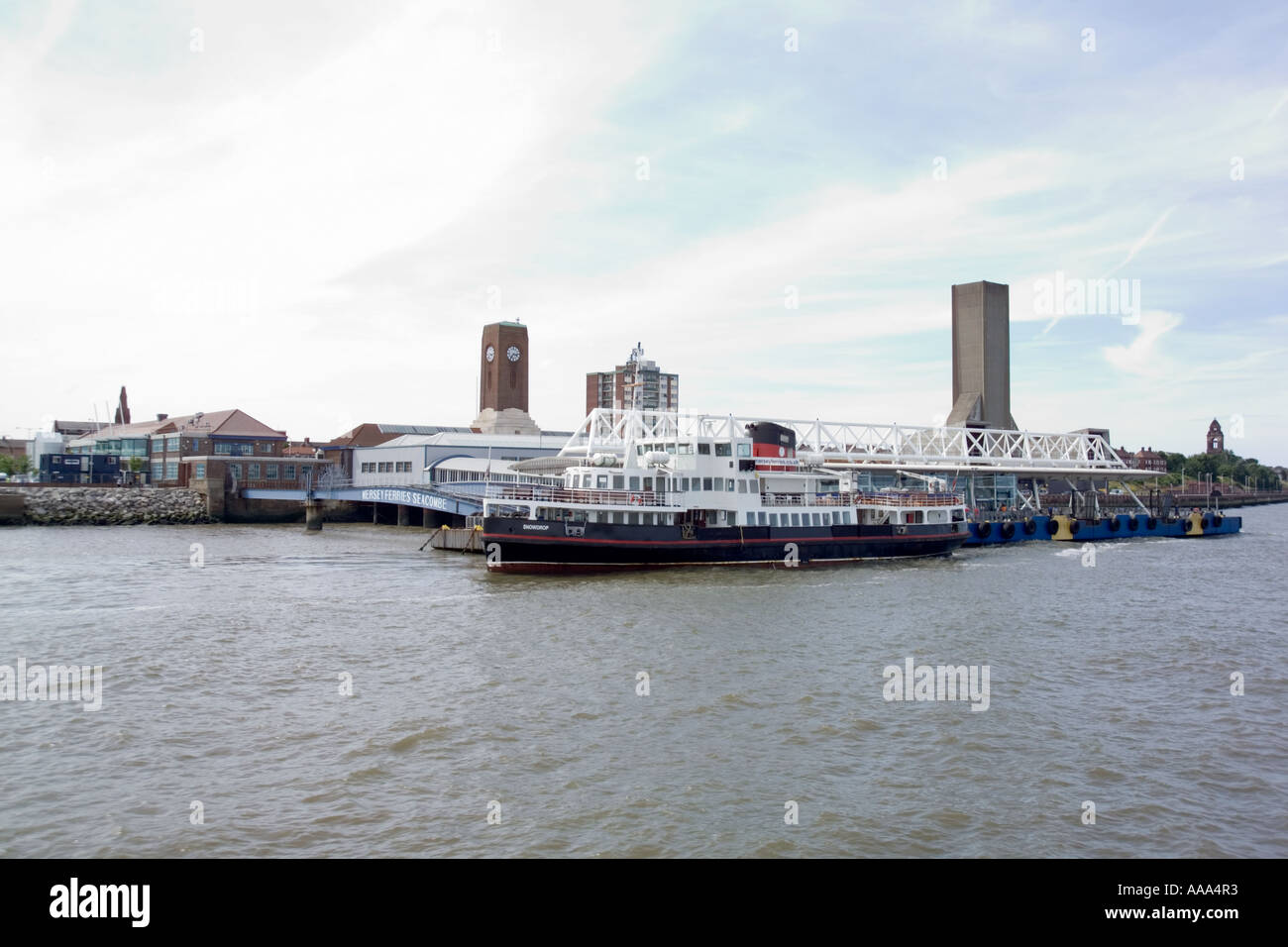 Seacombe Mersey Ferries passenger Terminal,Wirral,Birkenhead,Liverpool,UK,GB,England, - Stock Image