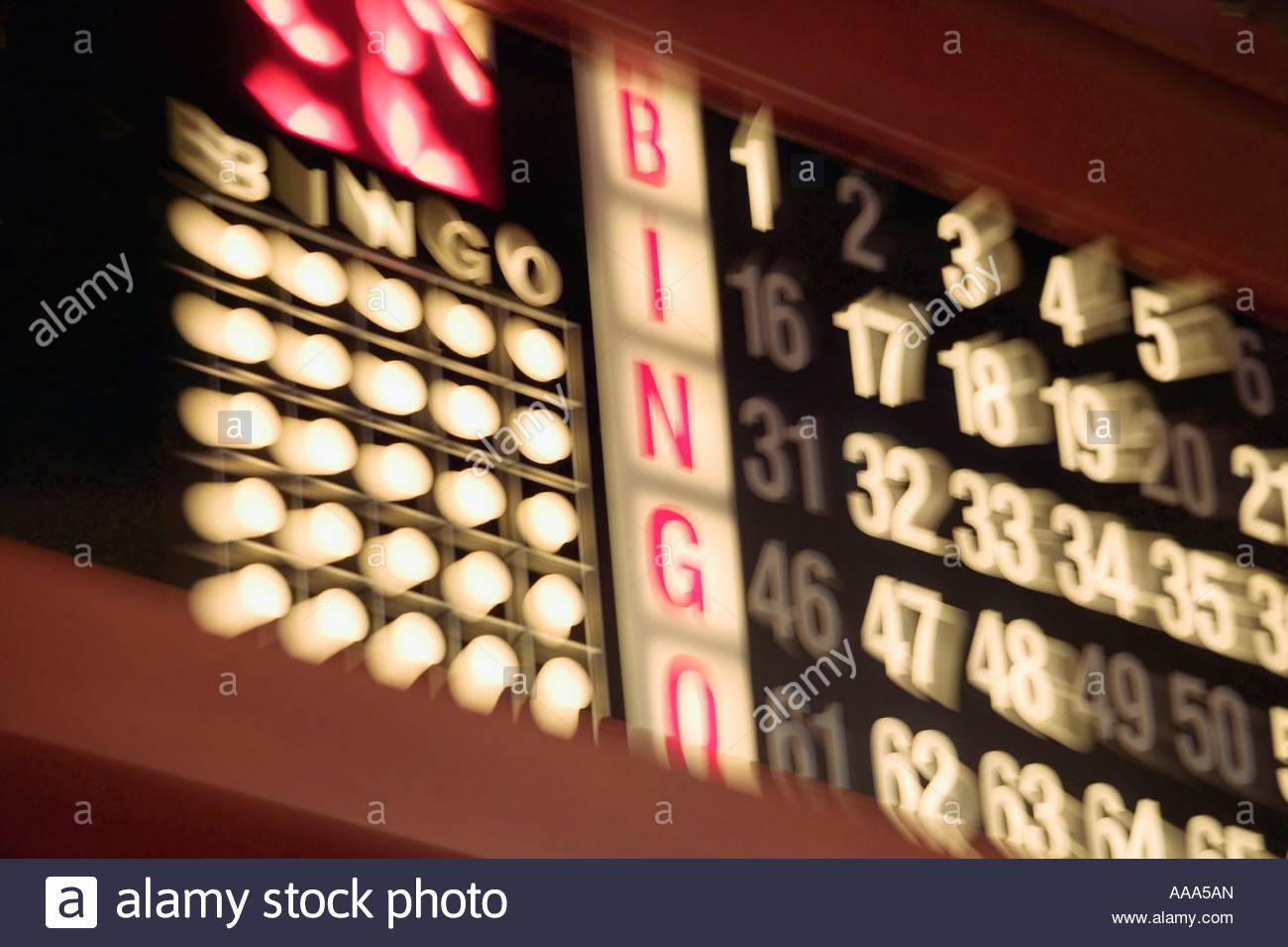 Blurred bingo board - Stock Image