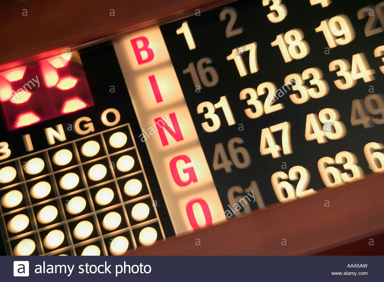Bingo board - Stock Image