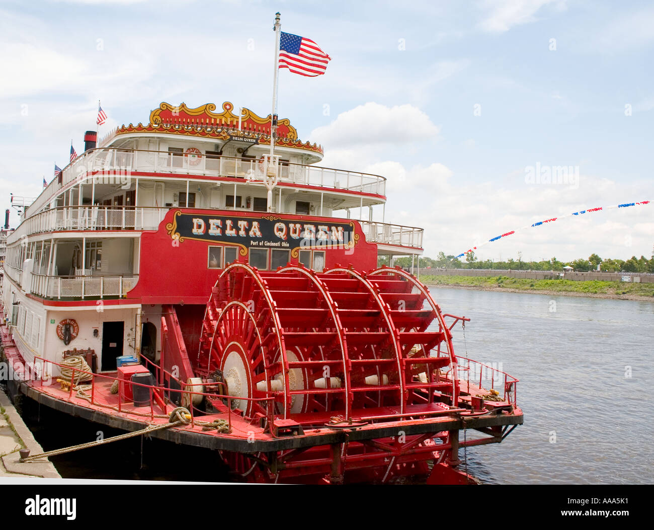 Paddlewheel Of The Historic Delta Queen Steam Powered Cruise Boat St Paul Minnesota USA