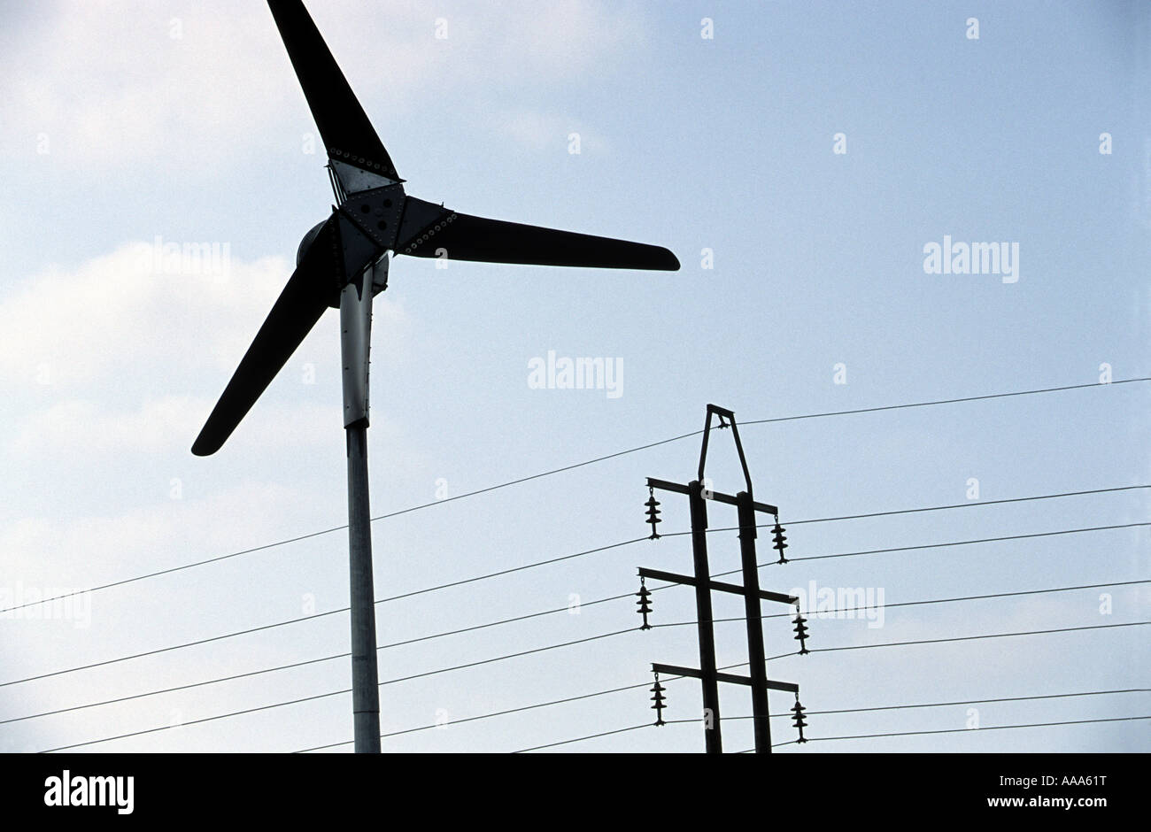 Great Micro Wind Turbine In A Garden Of A Property Of A House In Braintree Stock  Photo: 12564851   Alamy