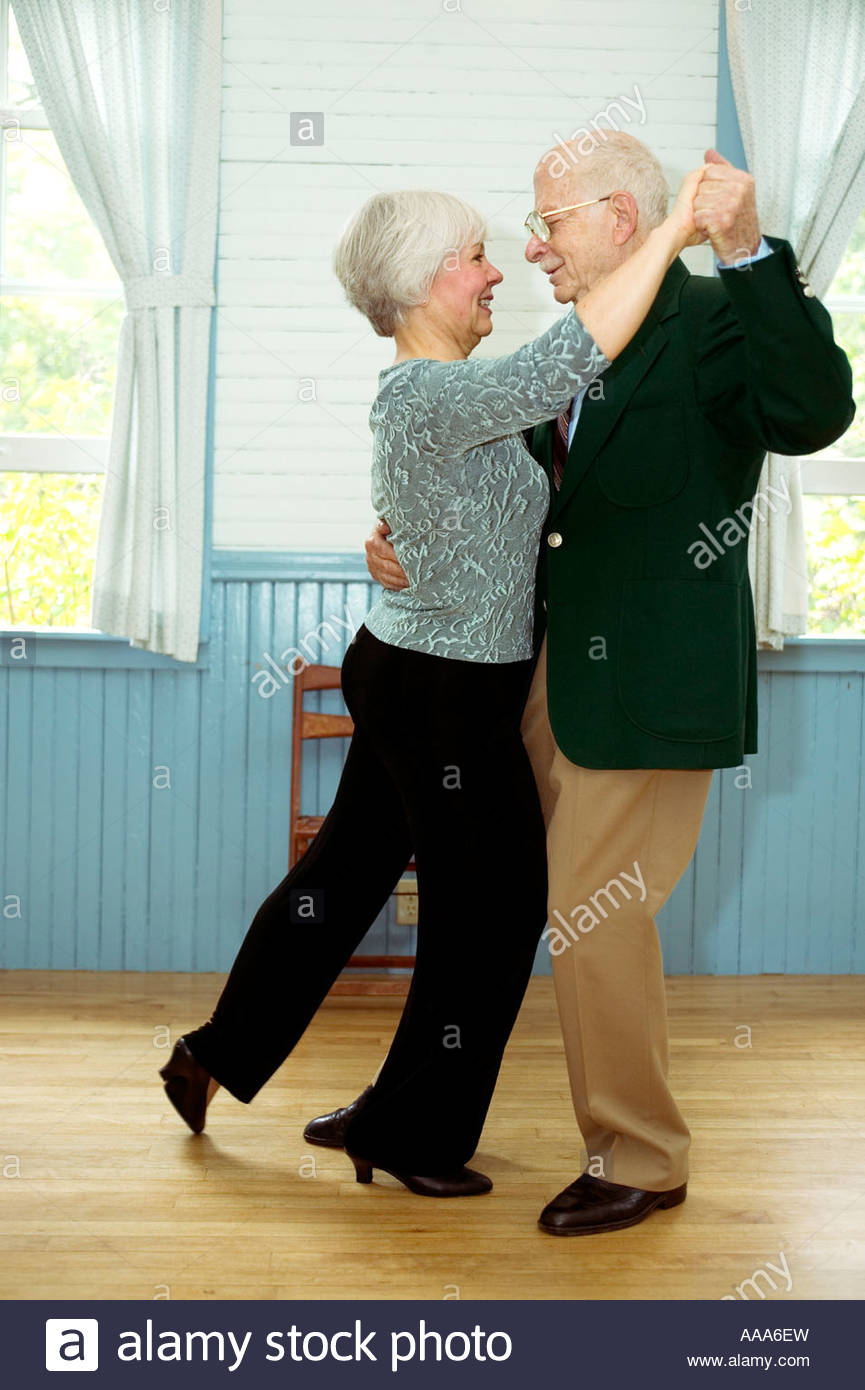 Senior couple dancing - Stock Image