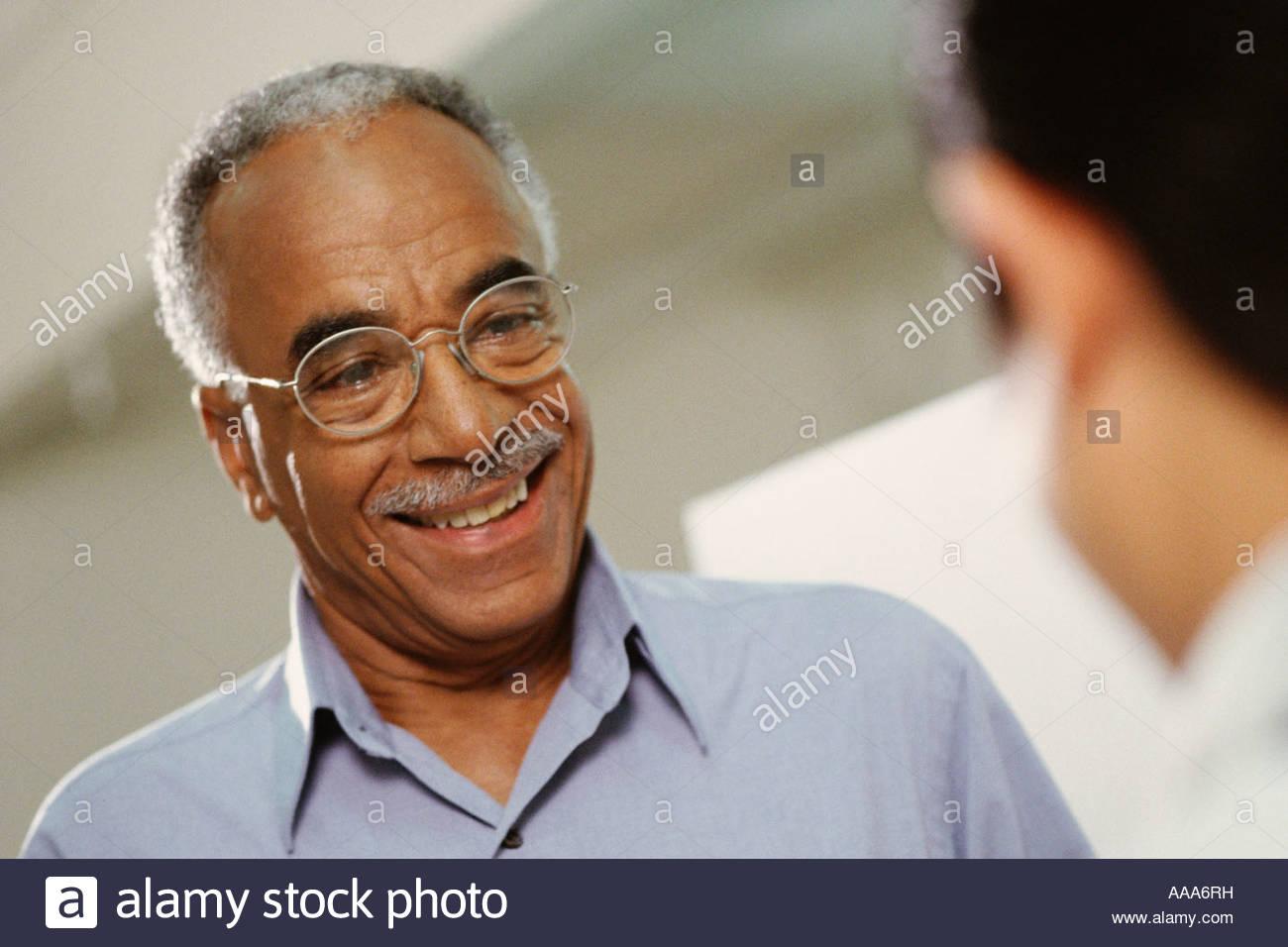 African man smiling - Stock Image