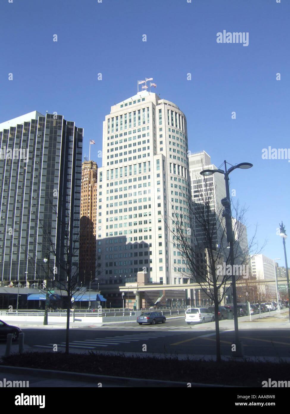 Ponchatrain Hotel Motel Downtown Detroit Michigan Mi Stock Photo