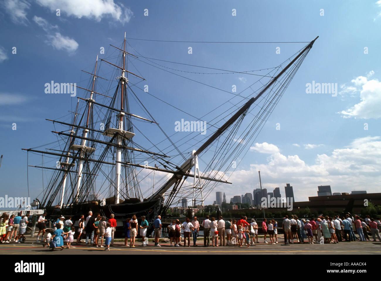 USS Constitution Boston Massachusetts MA - Stock Image