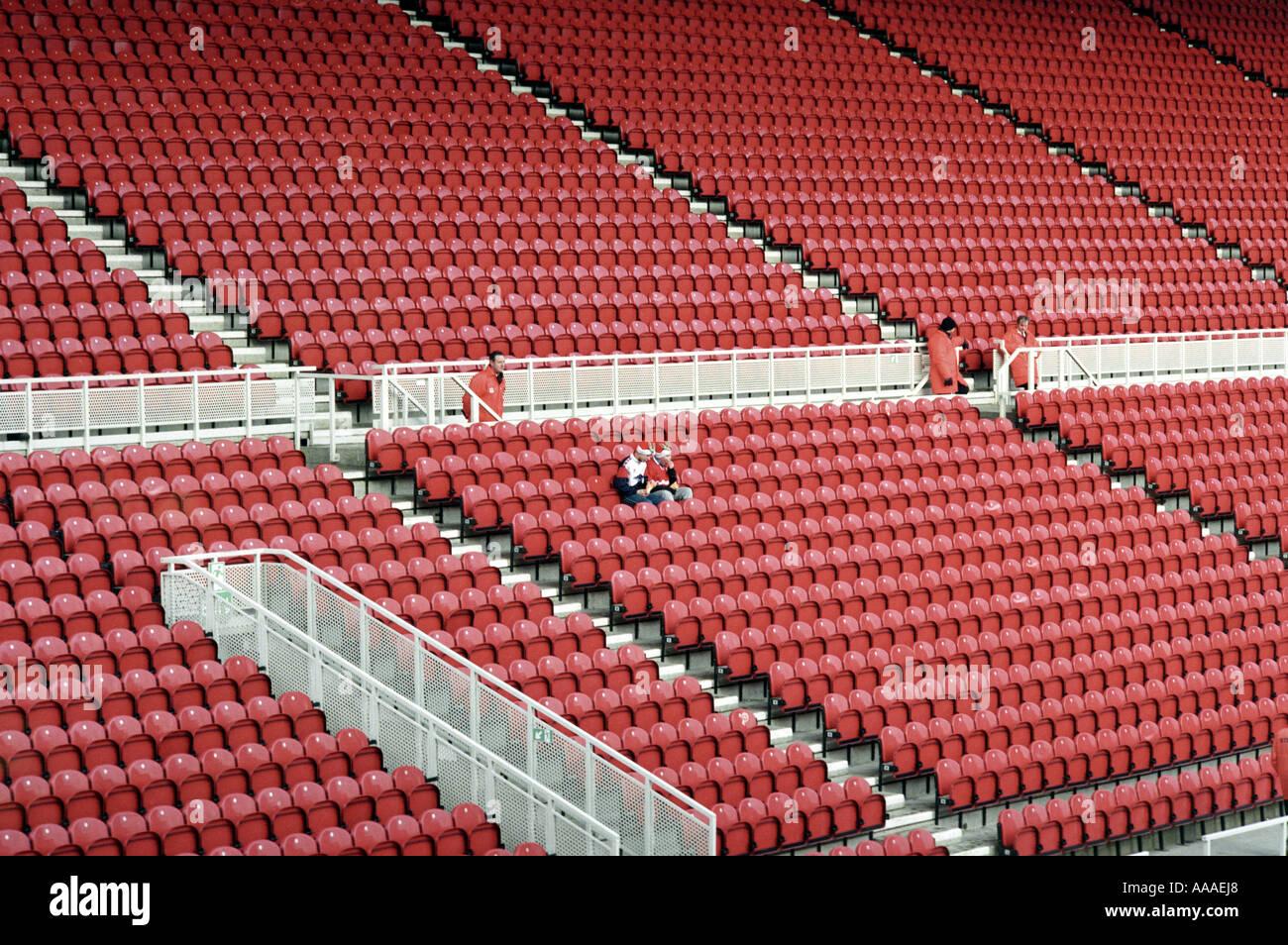 Fan Alone In Empty Stadium Stock Photos & Fan Alone In