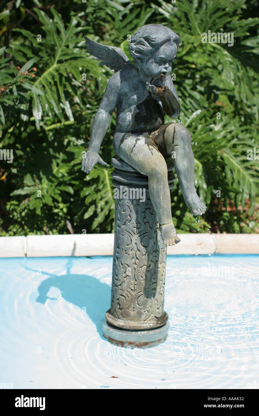 Orlando Florida Courtyard At Lake Lucerne Garden Statue   Stock Image