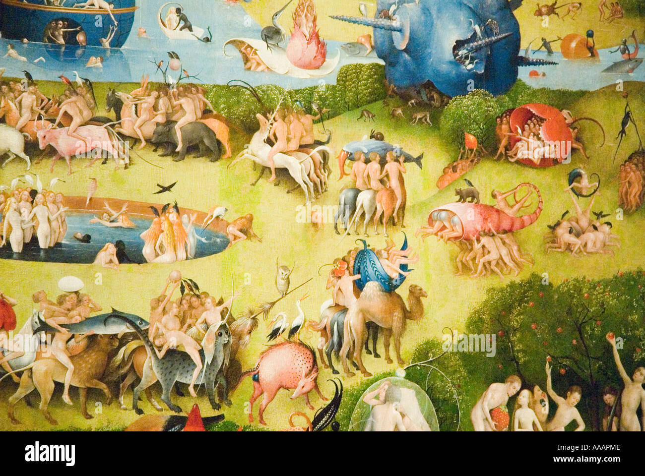 The Garden Of Earthly Delights Painting By Hieronymus Bosch Stock Photo 7183053 Alamy