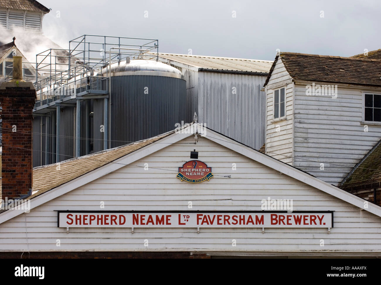 Shepherd Neame Brewery Britain s oldest brewer Faversham Kent - Stock Image