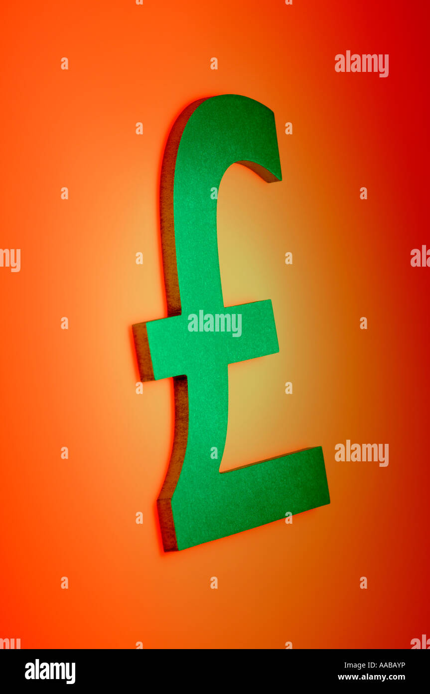 Pound Sterling Currency Symbol Stock Photo 12575913 Alamy