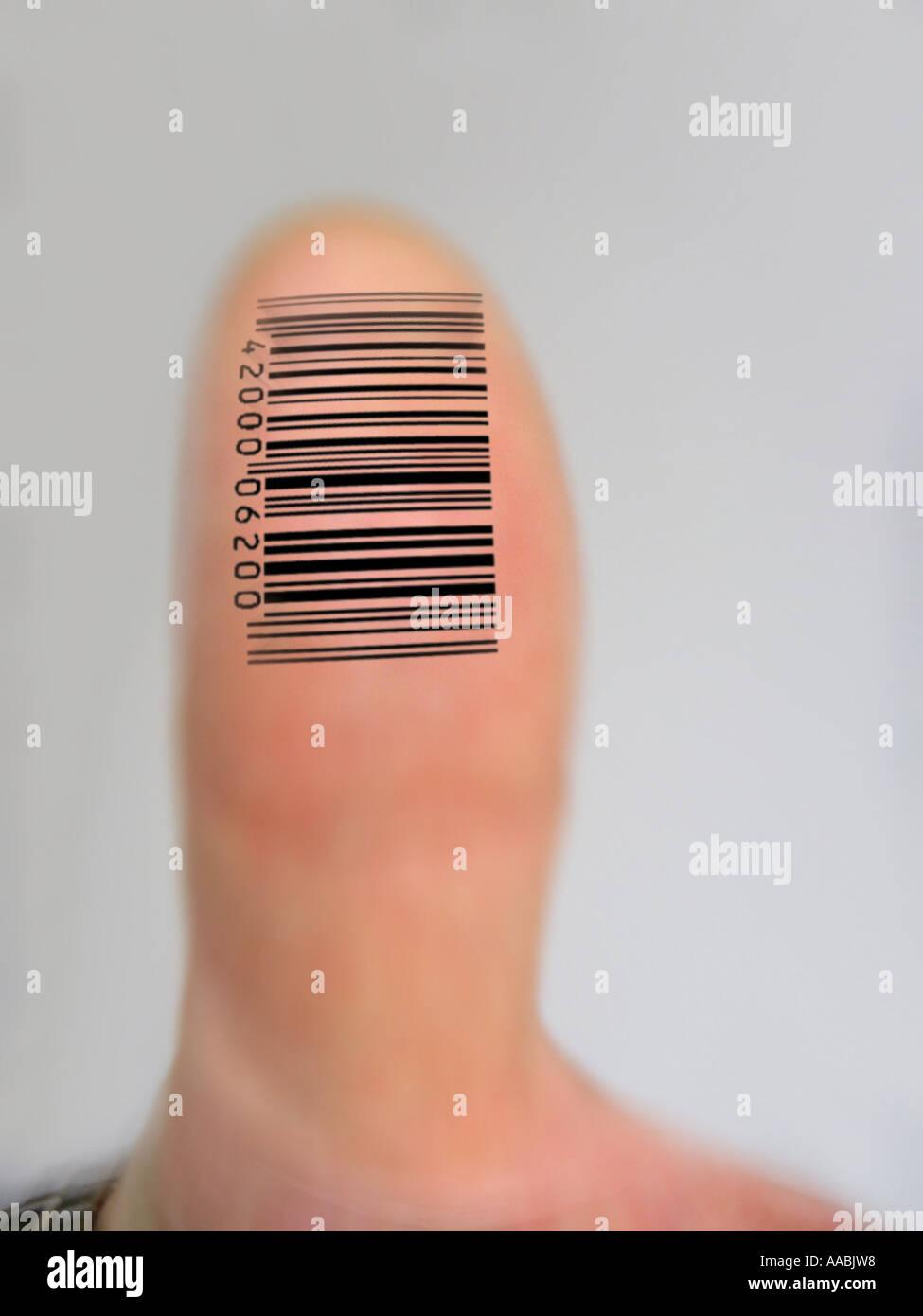 digital fingerprint Stock Photo