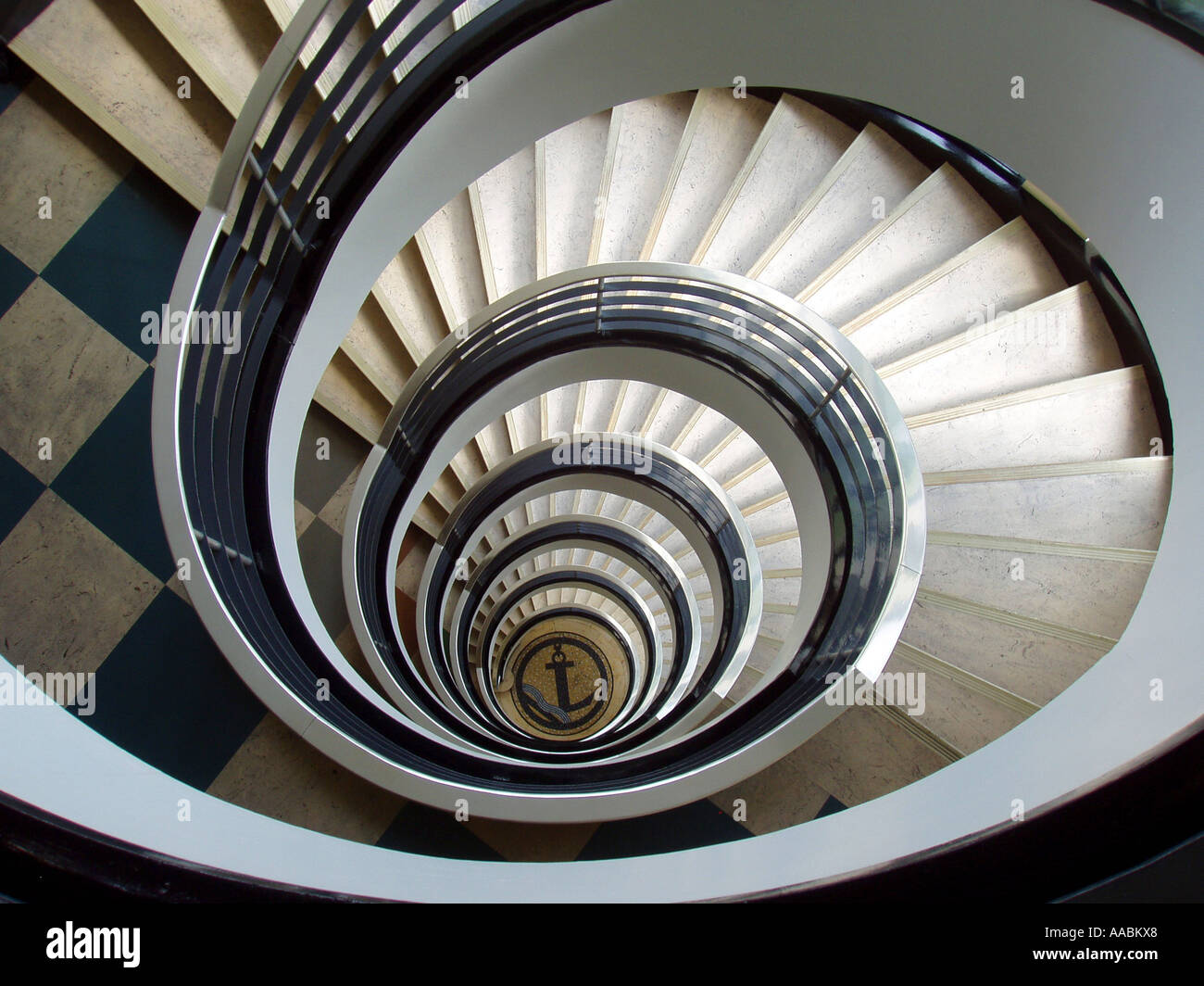 Beau Flight Of Winding Stairs;staircorkscrew Stock Photo: 7187943 ...