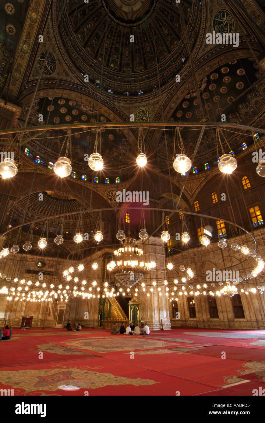 Prayer room, Muhammad Ali Mosque, Citadel, Cairo, Egypt - Stock Image