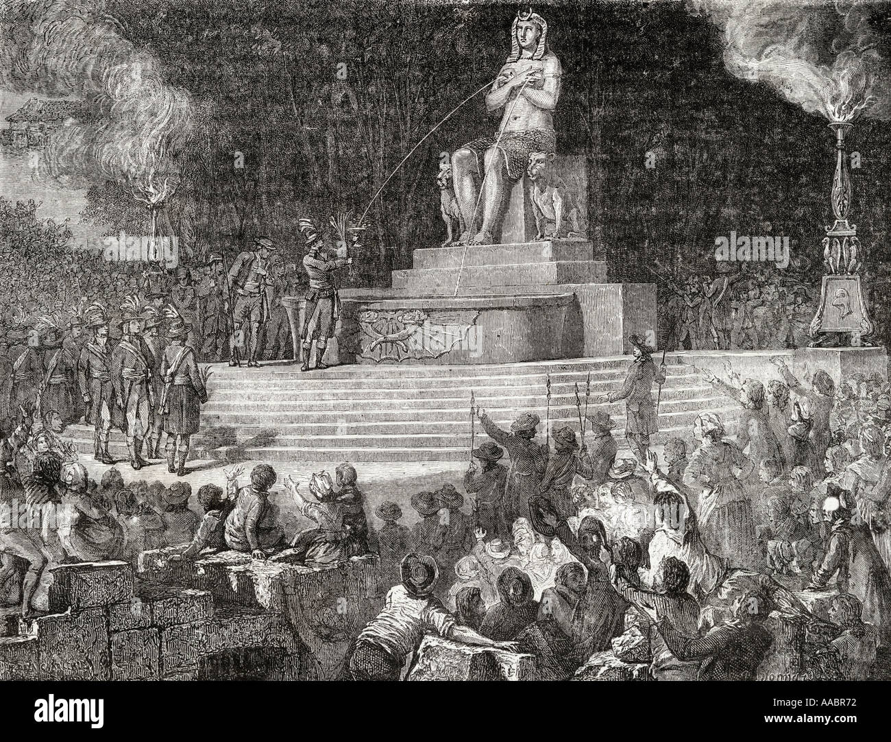 Fete in honour of the Constitution August 10, 1793. - Stock Image