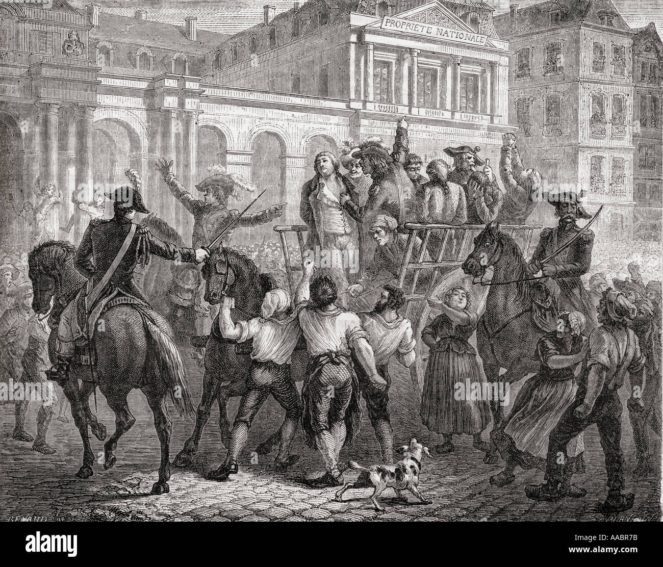 The Duke of Orleans on the way to execution, 6 November. 1793. Louis Philippe II, Duke of Orléans, aka Philippe Égalité, 1747 - 1793. - Stock Image