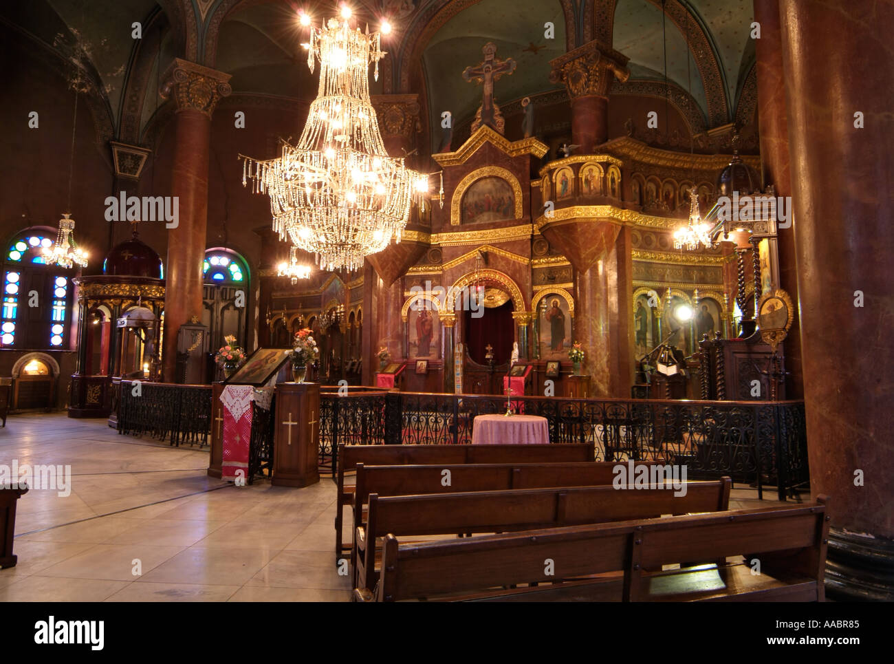Greek Orthodox Church of St. George, Coptic Cairo, Egypt - Stock Image