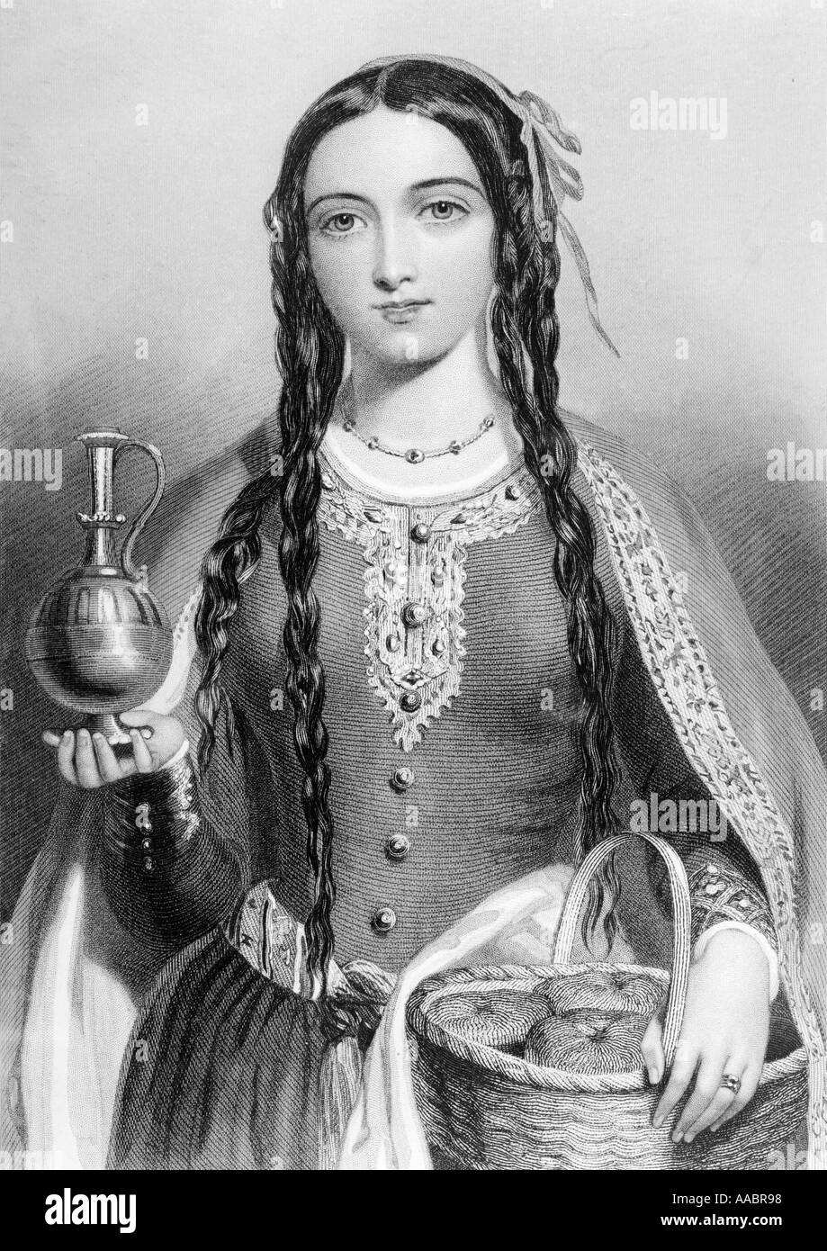 Matilda of Scotland, aka Edith c 1079/80 - 1118.  Queen of Henry I of England. Stock Photo