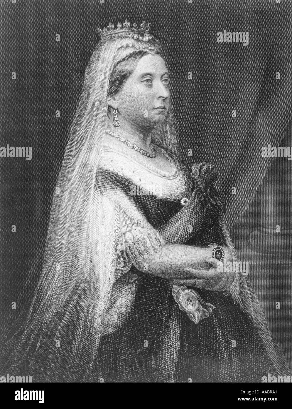Queen Victoria 1819 1901.  Queen of Great Britain. - Stock Image